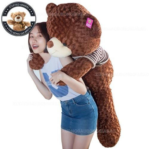 Gấu bông gấu teddy áo len size 140cm