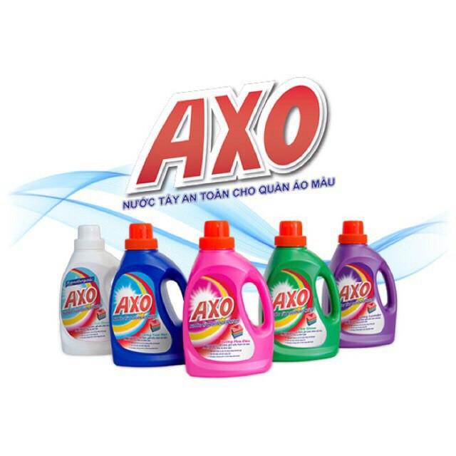 Nước tẩy quần áo màu axo chai 400ml chai 800ml