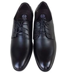 Giày tây nam da bò buộc dây Trường Hải màu đen đế cao 3.5cm