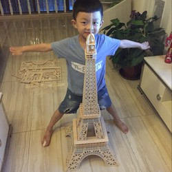 Đồ chơi lắp ráp gỗ 3D Mô hình Tháp Eiffel Eiffel Tower HD-F001D - Tặng kèm đèn LED