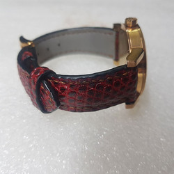 Dây đồng hồ da kỳ đà - Đồ da thủ công - Màu đỏ BV0280