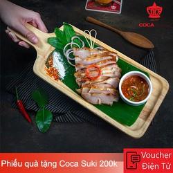 Evoucher Coca Suki - Phiếu quà tặng Coca Suki 200.000 VND