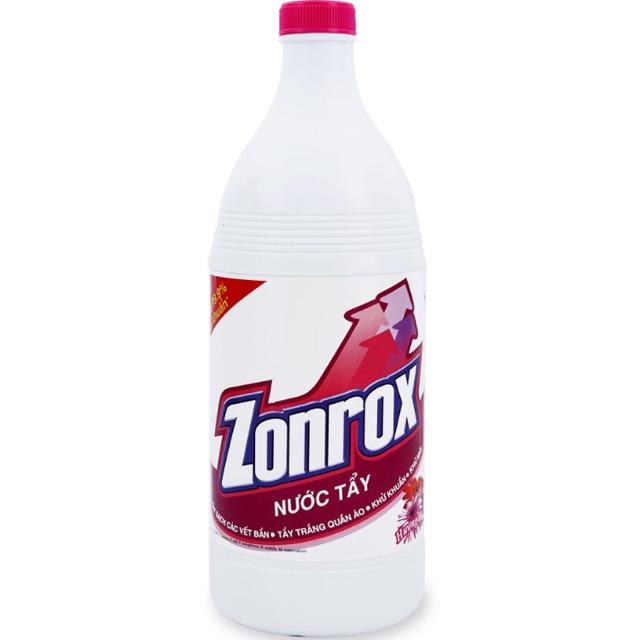 Nước tẩy trắng quần áo zonrox 1000ml