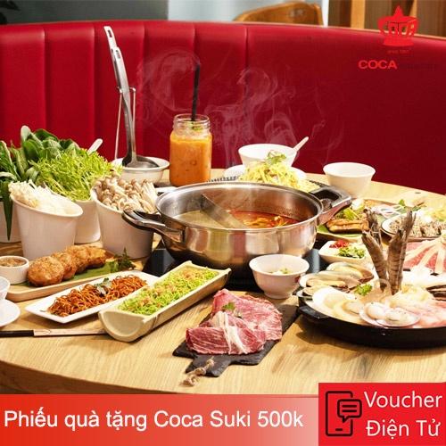 Evoucher Coca Suki - Phiếu quà tặng Coca Suki 500.000 VND