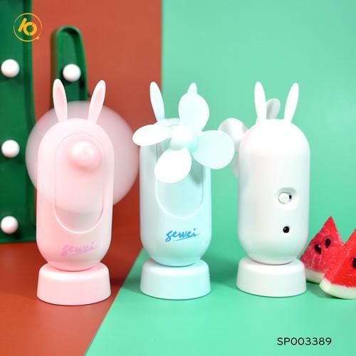 Quạt sạc usb tai thỏ mini có đế bàn- shop10k - 20954377 , 24043928 , 15_24043928 , 99000 , Quat-sac-usb-tai-tho-mini-co-de-ban-shop10k-15_24043928 , sendo.vn , Quạt sạc usb tai thỏ mini có đế bàn- shop10k