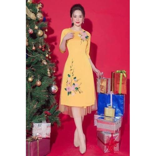 Áo dài cách tân nữ kèm chân váy voan phối hoa nổi duyên dáng mùa xuân, mẫu áo dài nữ đẹp mới mùa xuân năm nay - 20952703 , 24042056 , 15_24042056 , 200000 , Ao-dai-cach-tan-nu-kem-chan-vay-voan-phoi-hoa-noi-duyen-dang-mua-xuan-mau-ao-dai-nu-dep-moi-mua-xuan-nam-nay-15_24042056 , sendo.vn , Áo dài cách tân nữ kèm chân váy voan phối hoa nổi duyên dáng mùa xuân,