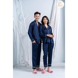 Bộ Lụa Dài Tay Trơn Nhiều Màu, Bộ Đồ Ngủ Dài Tay Chất Lụa - Bộ pijama lụa dài tay phù hợp cả nam và nữ