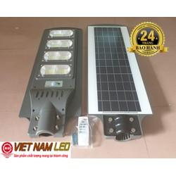 Đèn đường led năng lượng mặt trời 150W liền thể, pin 24Ah, điều khiển, cảm biến, vnled.vn, đt 0936395395