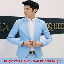 [FREESHIP - ĐƯỢC XEM HÀNG] Áo vest nam lịch lãm phong cách trẻ trung màu xanh lam