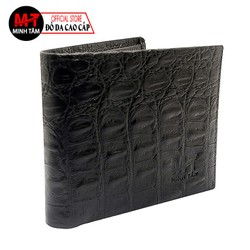 Ví Bóp Nam Minh Tâm Da Bò , Dập Vân Cá Sấu Cao Cấp MT2205 , đen
