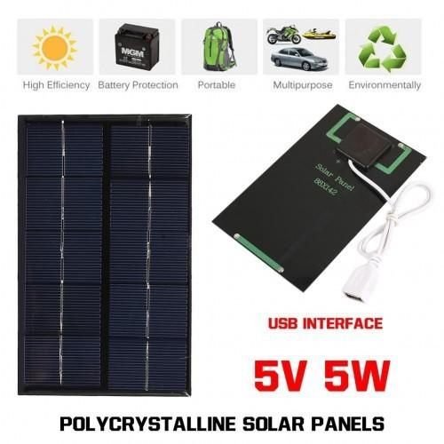 Tấm sạc pin năng lượng mặt trời 5v 5w