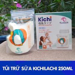 Túi trữ sữa Kichilachi 250ml mẫu mới 2019- 2 khoá zip rất chắc chắn