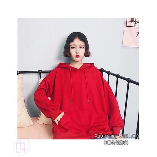 Áo hoodie nam nữ trơn đỏ