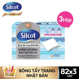 Bộ 3 hộp Bông tẩy trang Silcot, hộp 82 miếng - TUSC00001CB