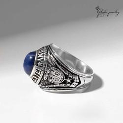 Nhẫn Mỹ Chuẩn Xưa Đá Sapphire Sao
