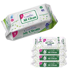 Combo 4 gói khăn giấy ướt Unifresh All Clean 80 tờ - ALL-4