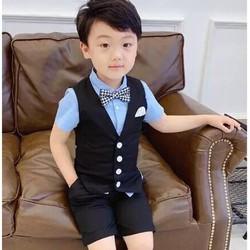 Bộ vest bé trai,sét 4 vest lịch lãm cho bé trai