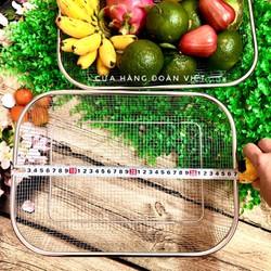 RỔ INOX Hình Chữ Nhật - Khôg rỉ sét 26x 36cm. Dụng cụ nhà bếp RỔ INOX ĐA DỤNG đựng rau củ quả, đồ gia dụng, bánh, thìa muỗng đũa. Phù hợp GIA ĐÌNH NHÀ HÀNG