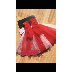 Váy Tu tu nơ đỏ