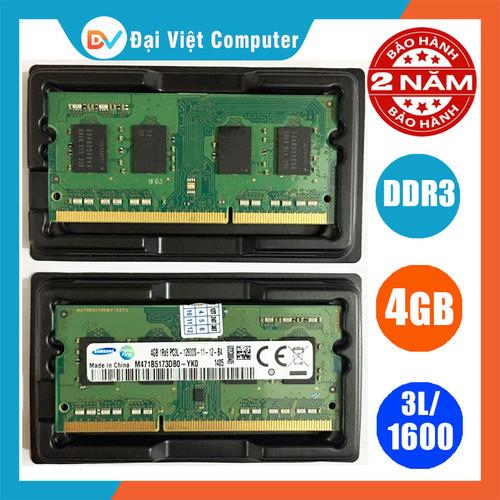 Ram laptop 4gb ddr3l bus 1600 pc3l-12800s nhiều hãng eldipa crucial micron samsung hynix....