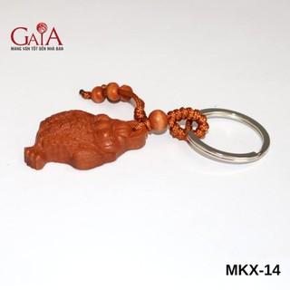 Móc khóa xe phong thủy - Thiềm Thừ Gỗ - MKX14 thumbnail