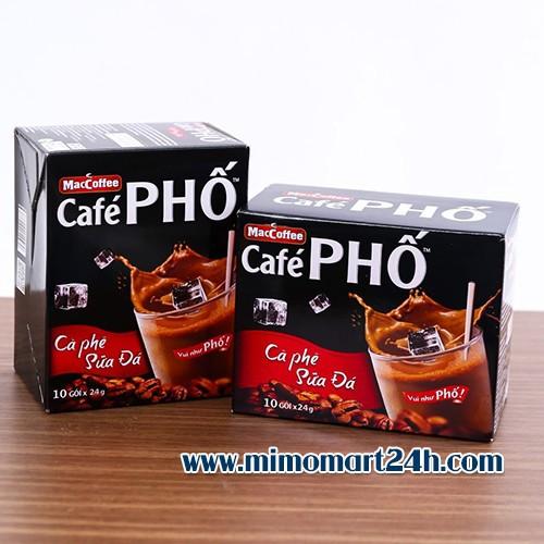 Cà phê phố - cà phê sữa đá hộp 10 gói x 24g