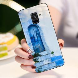 Ốp điện thoại dành cho máy Samsung Galaxy A8 Plus - Cánh cửa màu xanh MS ABHTA002