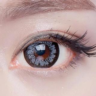 Lens mắt kính áp tròng Xám Gray, không độ, Tặng khay đựng sử dụng 1 năm không cộm mắt l21 - l21 thumbnail