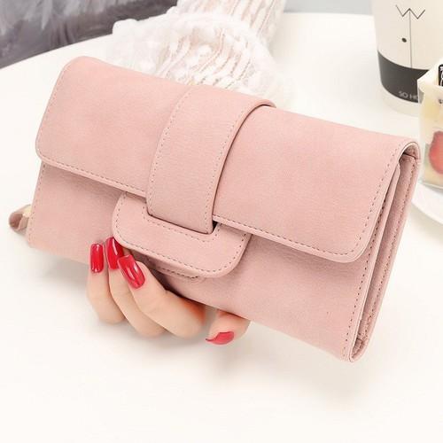 Ví nữ dài cầm tay nhiều ngăn nhỏ gọn đựng điện thoại tiền thẻ card rất tiện dụng phong cách thời trang hàn quốc xinh xắn