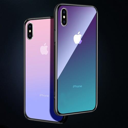 Ốp điện thoại iphone x,xs,xsmax,xr màu grandient chống sốc, trầy xước
