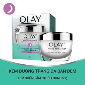 Kem dưỡng trắng da ban đêm Olay White Radiance Light Perfecting Night Cream 50g - 4902430733830