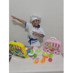 Trang phục bé làm đầu bếp