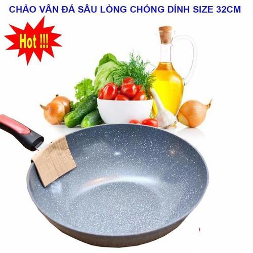 Chảo vân đá sâu lòng chống dính 32cm - 21030622 , 24147791 , 15_24147791 , 99000 , Chao-van-da-sau-long-chong-dinh-32cm-15_24147791 , sendo.vn , Chảo vân đá sâu lòng chống dính 32cm
