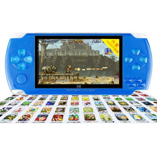 Máy chơi game cầm tay 4 nút x6 màn hình 4 3 inch chơi được game thùng nes snes gbc gba smc tích hợp sẵn 10000 trò