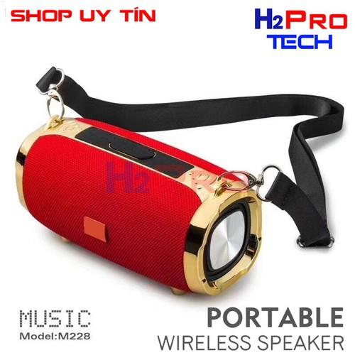 Loa bluetooth di động m228 siêu trầm stereo kèm dây đeo   loa nghe nhạc