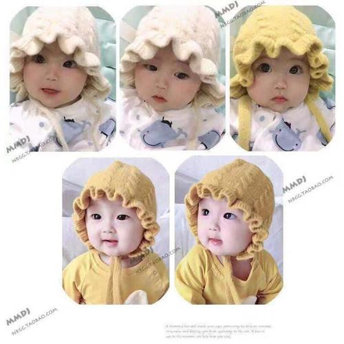 Mũ len xoăn trẻ em