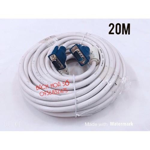 Dây cáp vga 20m dây trắng - 20466384 , 23288016 , 15_23288016 , 195000 , Day-cap-vga-20m-day-trang-15_23288016 , sendo.vn , Dây cáp vga 20m dây trắng