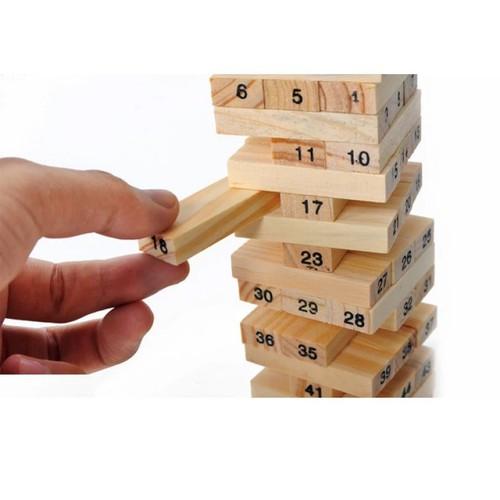 Đồ chơi rút gỗ 54 thanh xây tòa nhà 18 tầng cho bé nhỏ freeship toàn quốc