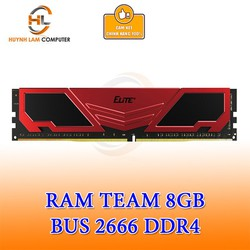 Ram 8GB Teamgroup Elite DDR4 2666MHZ Tản Đỏ Chính Hãng Networkhub Phân phối