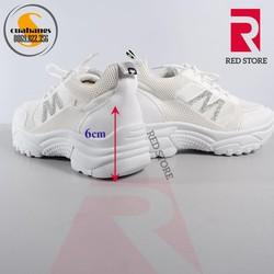 Giày thể thao nữ Ulzzang HQ 007 màu trắng 6cm chiều cao