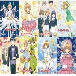 Poster Cardcaptor Sakura Thủ lĩnh thẻ bài 8 tấm A3 tranh treo album ảnh in hình anime chibi đẹp anime quà tặng dễ thương