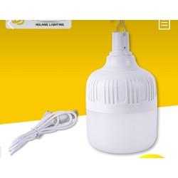 [hỗ trợ phí vận chuyển] Bóng đèn tích điện 40W tặng dây sạc USB và móc treo