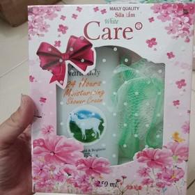 Sữa tắm dê White Care 4x tặng bông tắm - dfdgg