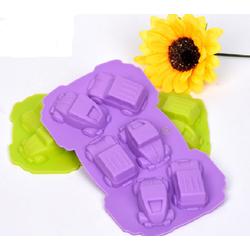 Khuôn silicon làm rau câu làm bánh 6 xe ôtô