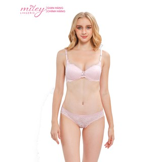 Bộ Áo Ngực Quần Lót Nữ Ren Không Gọng Miley Lingerie- Hồng - BRL_12005 FLS_03 thumbnail