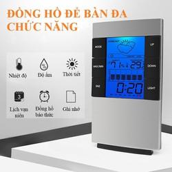 Đồng hồ để bàn đa chức năng đo nhiệt độ và độ ẩm kiêm lịch điện tử đa năng tiện dụng