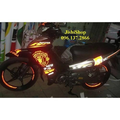 1 bộ tem dán xe phản quang cho ô tô xe máy xe đạp