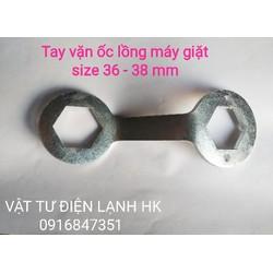 TAY VẶN ỐC LỒNG MÁY GIẶT - TRÒNG MỞ THÁO TÁN SIZE 36-38mm