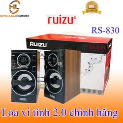 Loa vi tính 2.0 Ruizu RS830 đen giả gỗ âm thanh to sôi động - Hãng phân phối