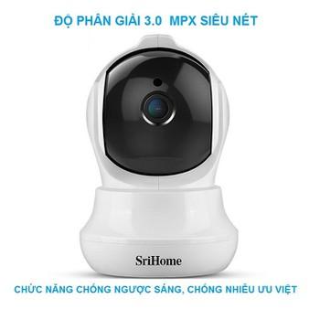 Camera WIFI 3.0Mpx Srihome SH020 - Xem nhiều khung hình trên điện thoại